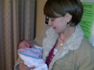 Lisa holding Claire DeSalvo