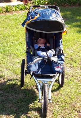 Joshua in jogging stroller (blog size)